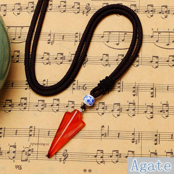 OVERSTOCK SUMMER SALE! Natural Stone Arrow Pendant