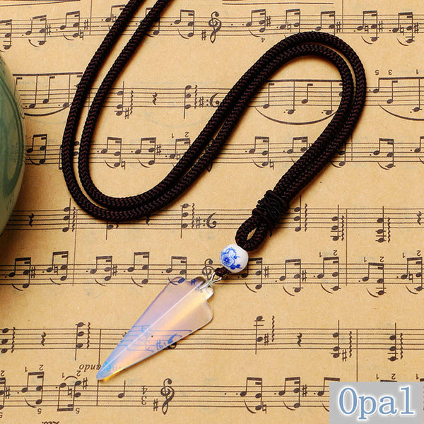 OVERSTOCK FALL SALE! Natural Stone Arrow Pendant
