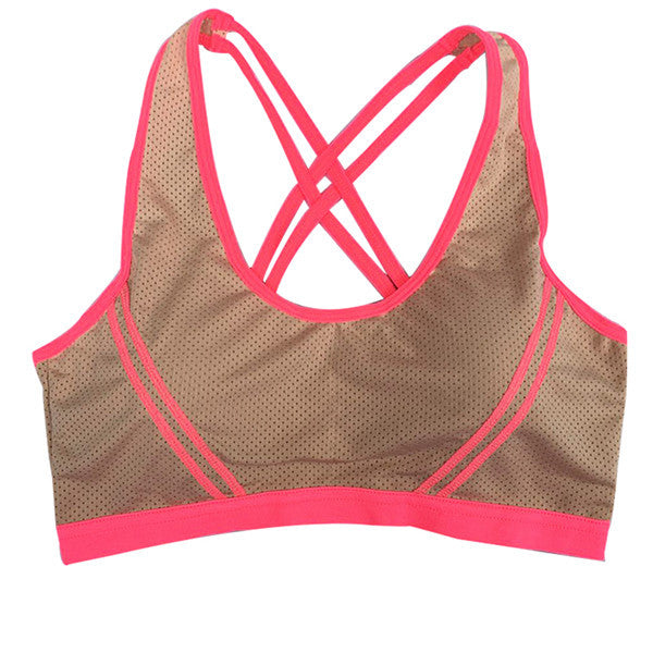 Thin-Strap Seamless Sports Bra