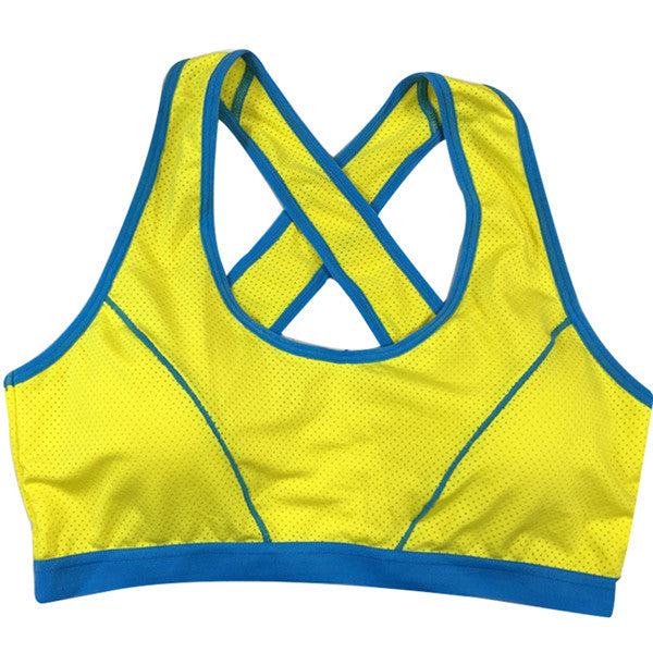 Criss-Cross Support Sports Bra