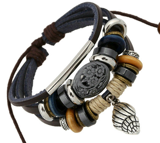 Leather Wrap Bracelet - Multi-Style - Shevoila Jewelry & Clothing - 12