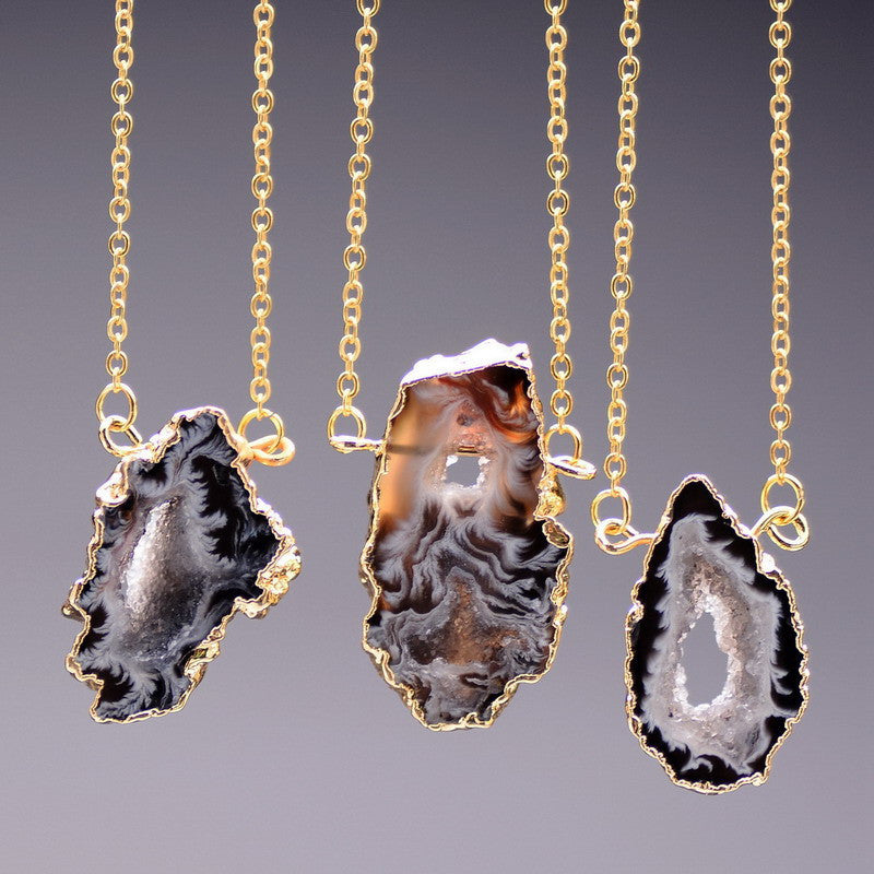 Onyx Agate Necklace - Shevoila Jewelry & Clothing - 1