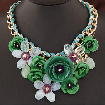 Colorful Floral Necklace - Shevoila Jewelry & Clothing - 4