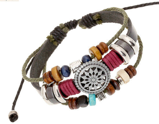 Leather Wrap Bracelet - Multi-Style - Shevoila Jewelry & Clothing - 6