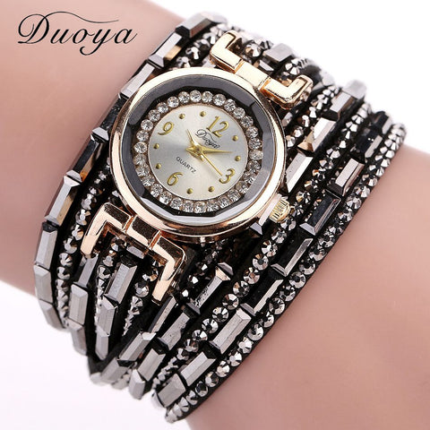 Crystal Fashion Bracelet Watch - Shevoila Jewelry & Clothing - 1