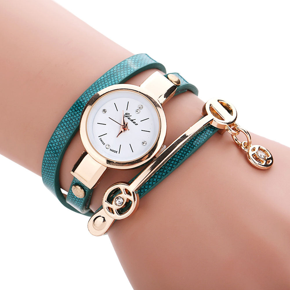 Golden Wrap Bracelet Watch - Shevoila Jewelry & Clothing - 6