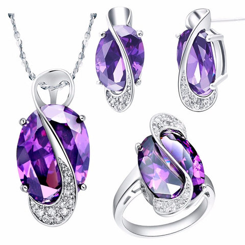 Natural Gemstone & Silver Jewelry Set - Shevoila Jewelry & Clothing - 1