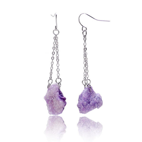 Crystal Natural Stone Earrings - Shevoila Jewelry & Clothing - 1