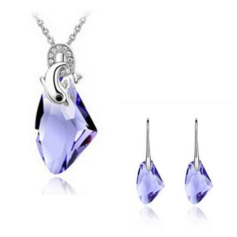 Gemstone Crystal Jewelry Set - Shevoila Jewelry & Clothing - 1