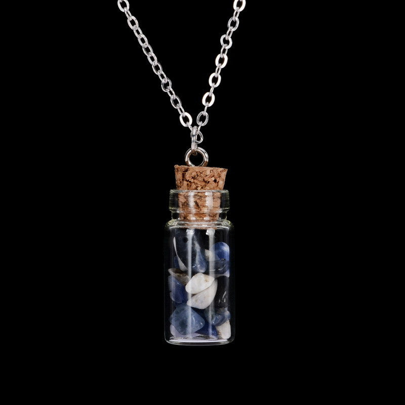 Gemstone Bottle Necklace - Shevoila Jewelry & Clothing - 7