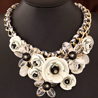 Colorful Floral Necklace - Shevoila Jewelry & Clothing - 9