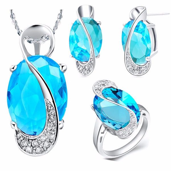 Natural Gemstone & Silver Jewelry Set - Shevoila Jewelry & Clothing - 5