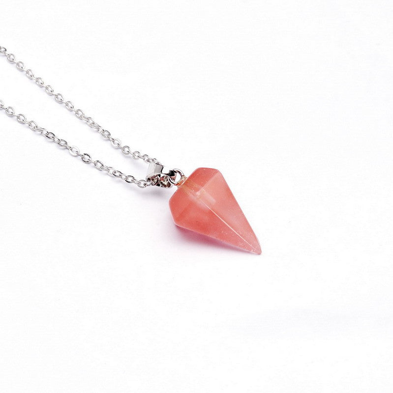 Gemstone Pendulum Necklace - Shevoila Jewelry & Clothing - 6