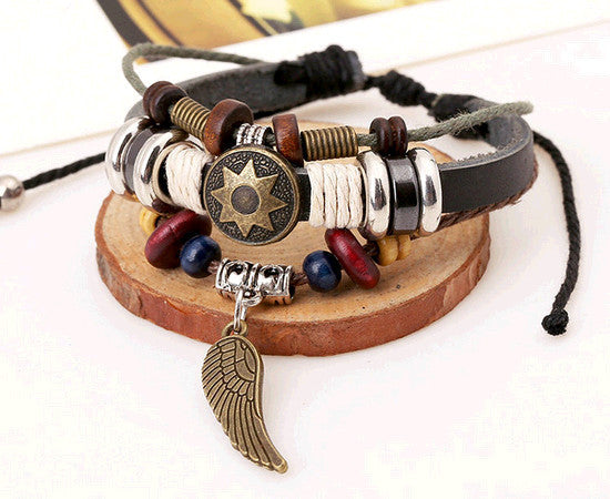 Leather Wrap Bracelet - Multi-Style - Shevoila Jewelry & Clothing - 14