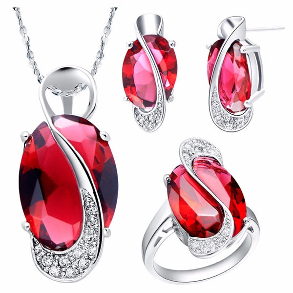 Natural Gemstone & Silver Jewelry Set - Shevoila Jewelry & Clothing - 3