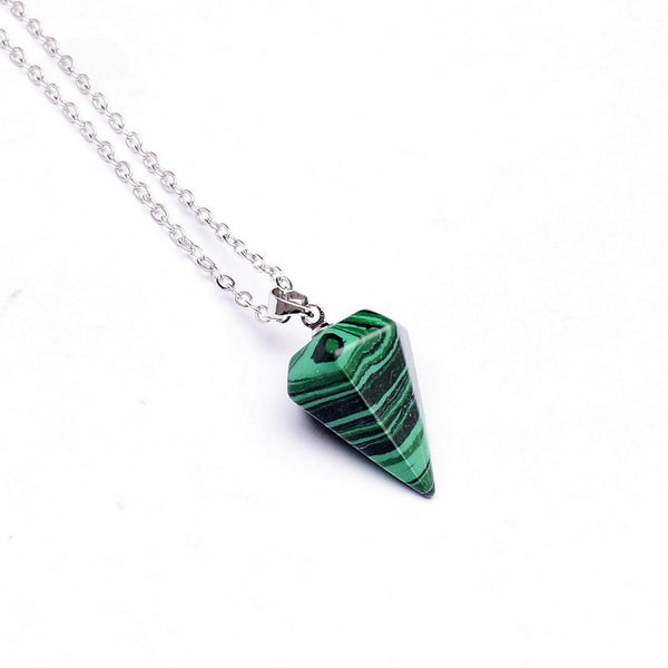 Gemstone Pendulum Necklace - Shevoila Jewelry & Clothing - 13