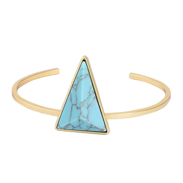 Gold Plated Triangle Bracelet - Shevoila Jewelry & Clothing - 3