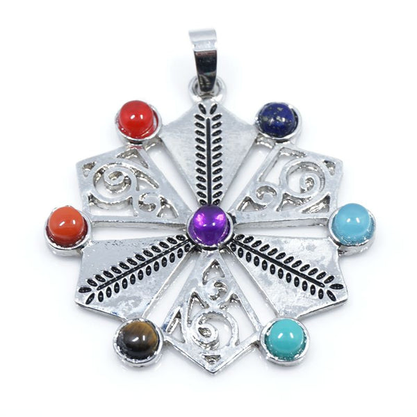 7 Stone Chakra Pendants - Shevoila Jewelry & Clothing - 4