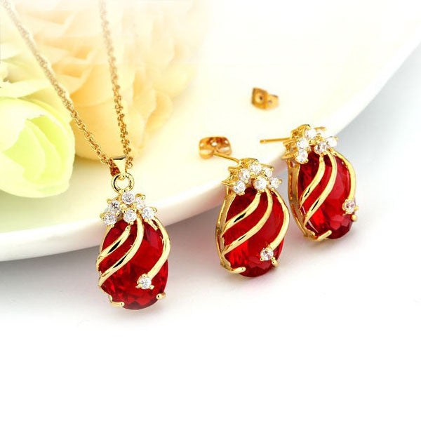 Gold & Gemstone Jewelry Set - Shevoila Jewelry & Clothing - 4