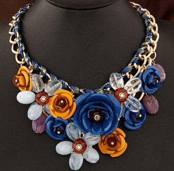 Colorful Floral Necklace - Shevoila Jewelry & Clothing - 6