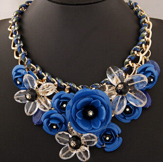 Colorful Floral Necklace - Shevoila Jewelry & Clothing - 10