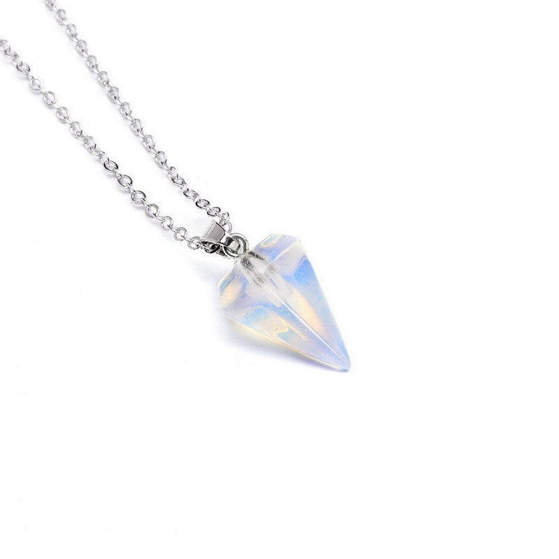Gemstone Pendulum Necklace - Shevoila Jewelry & Clothing - 7