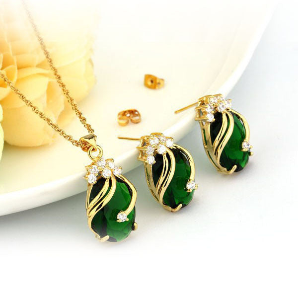 Gold & Gemstone Jewelry Set - Shevoila Jewelry & Clothing - 2