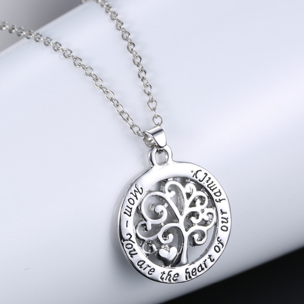 Heart of the Family Necklace - Shevoila Jewelry & Clothing - 4