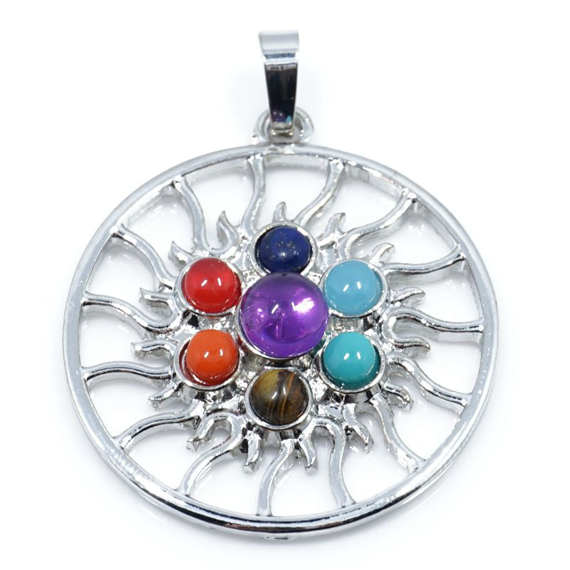 7 Stone Chakra Pendants - Shevoila Jewelry & Clothing - 2
