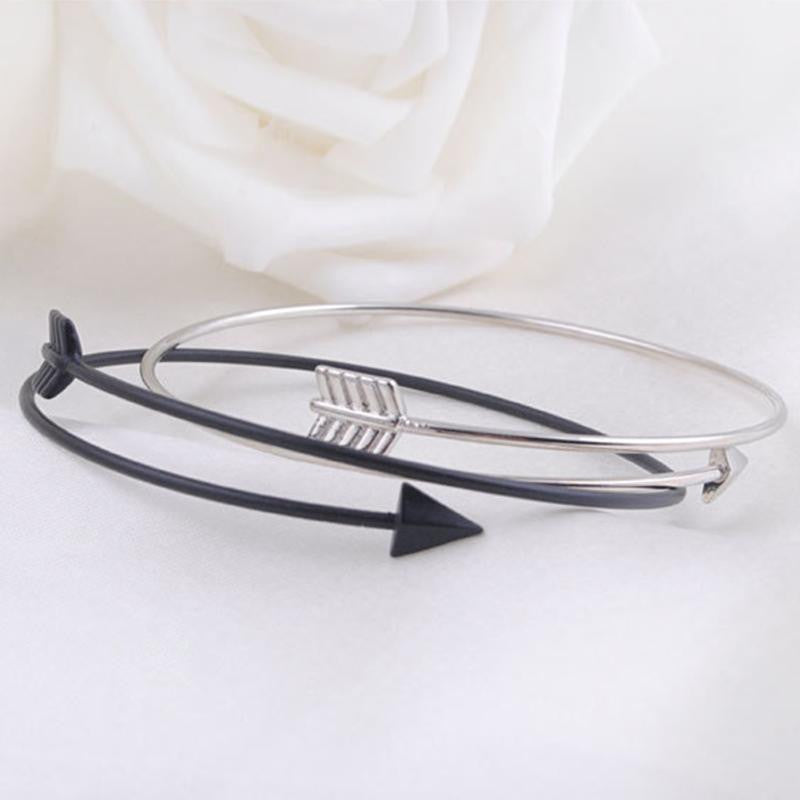 Silver & Gold Arrow Bracelet - Shevoila Jewelry & Clothing - 1