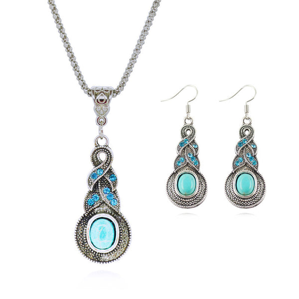 Tibetan Turquoise Jewelry Sets - Shevoila Jewelry & Clothing - 1