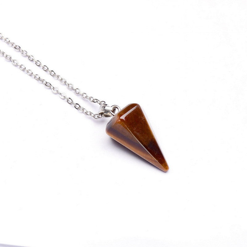 Gemstone Pendulum Necklace - Shevoila Jewelry & Clothing - 2