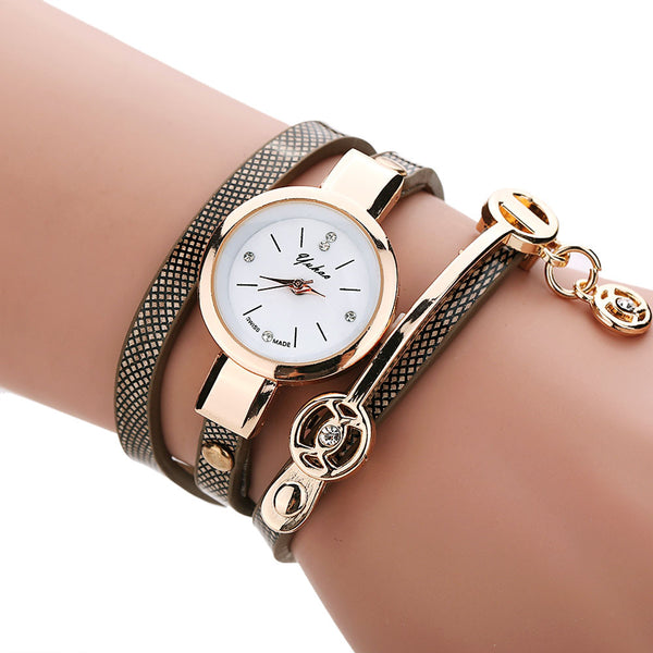 Golden Wrap Bracelet Watch - Shevoila Jewelry & Clothing - 3