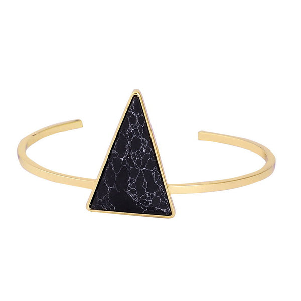 Gold Plated Triangle Bracelet - Shevoila Jewelry & Clothing - 2