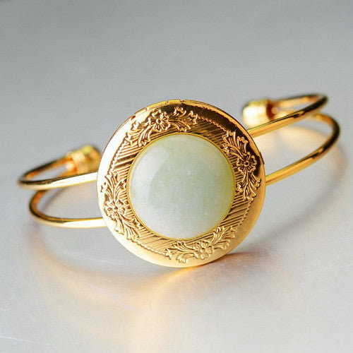 Gold Plated Natural Stone Bracelet - Shevoila Jewelry & Clothing - 4
