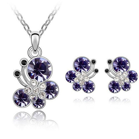 Butterfly Gemstone Jewelry Sets - Shevoila Jewelry & Clothing - 1