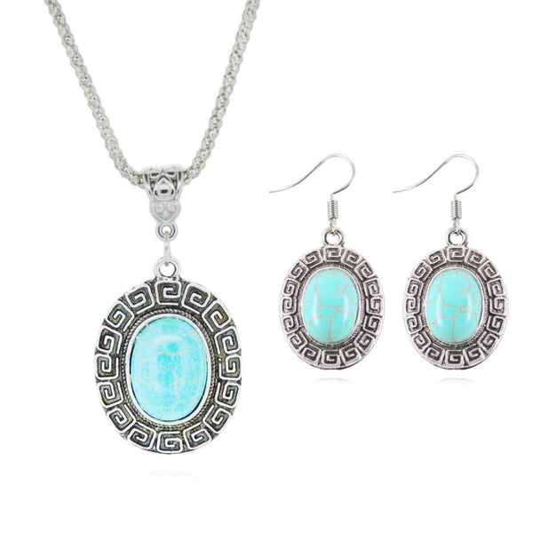 Tibetan Turquoise Jewelry Sets - Shevoila Jewelry & Clothing - 5