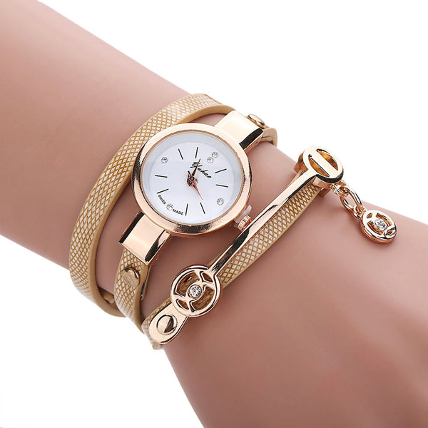 Golden Wrap Bracelet Watch - Shevoila Jewelry & Clothing - 1