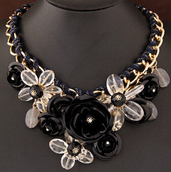 Colorful Floral Necklace - Shevoila Jewelry & Clothing - 3