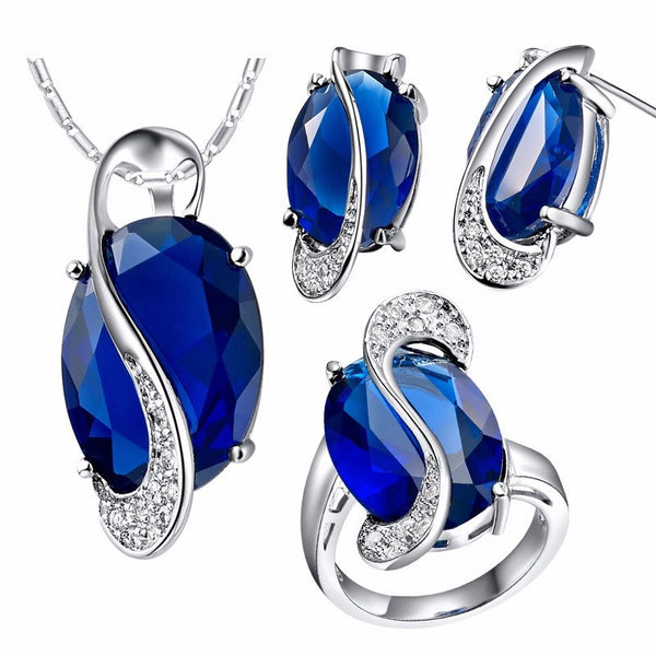 Natural Gemstone & Silver Jewelry Set - Shevoila Jewelry & Clothing - 4