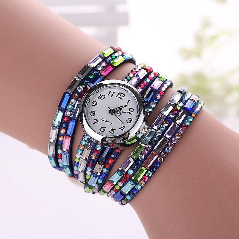 Gemstone Leather Wristwatch - Shevoila Jewelry & Clothing - 9