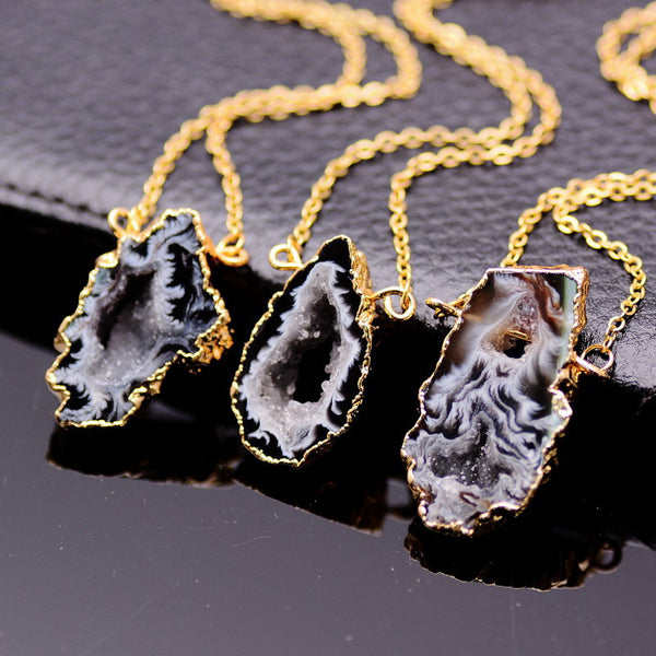Onyx Agate Necklace - Shevoila Jewelry & Clothing - 3