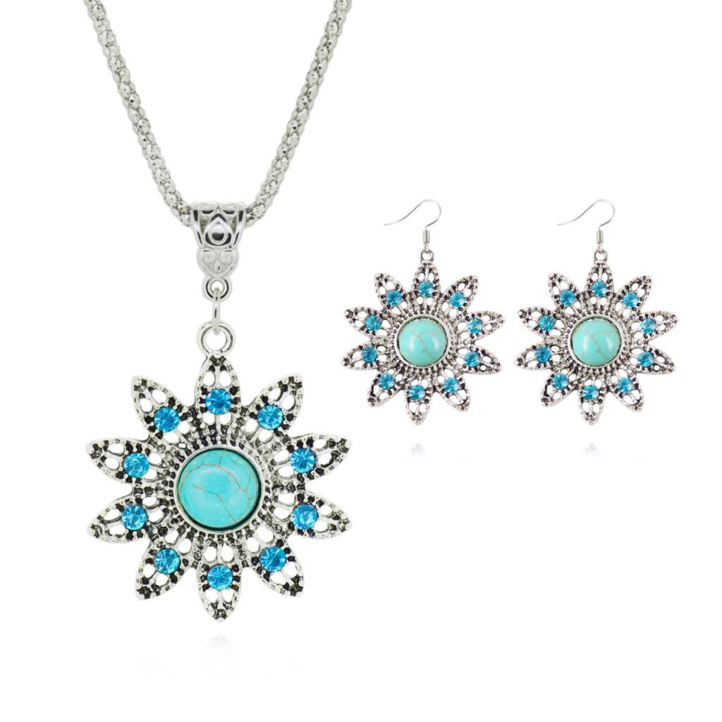 Tibetan Turquoise Jewelry Sets - Shevoila Jewelry & Clothing - 7
