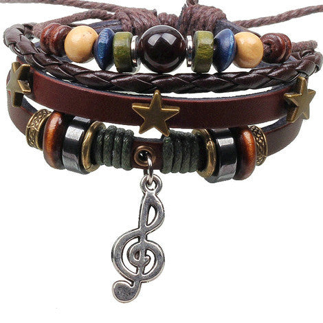 Leather Wrap Bracelet - Multi-Style - Shevoila Jewelry & Clothing - 4