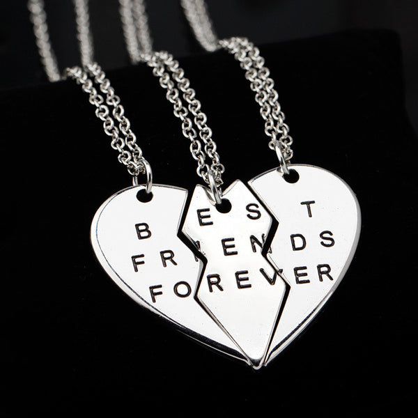 3 Piece - Best Friends Necklace Set - Shevoila Jewelry & Clothing - 3