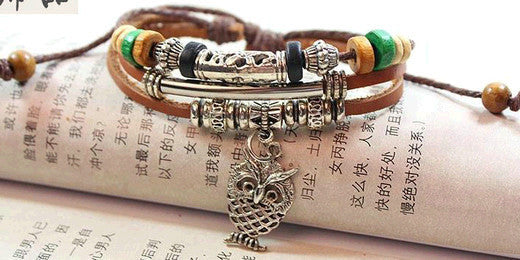 Leather Wrap Bracelet - Multi-Style - Shevoila Jewelry & Clothing - 9