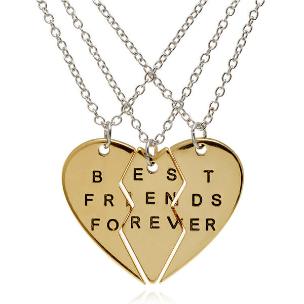 3 Piece - Best Friends Necklace Set - Shevoila Jewelry & Clothing - 2