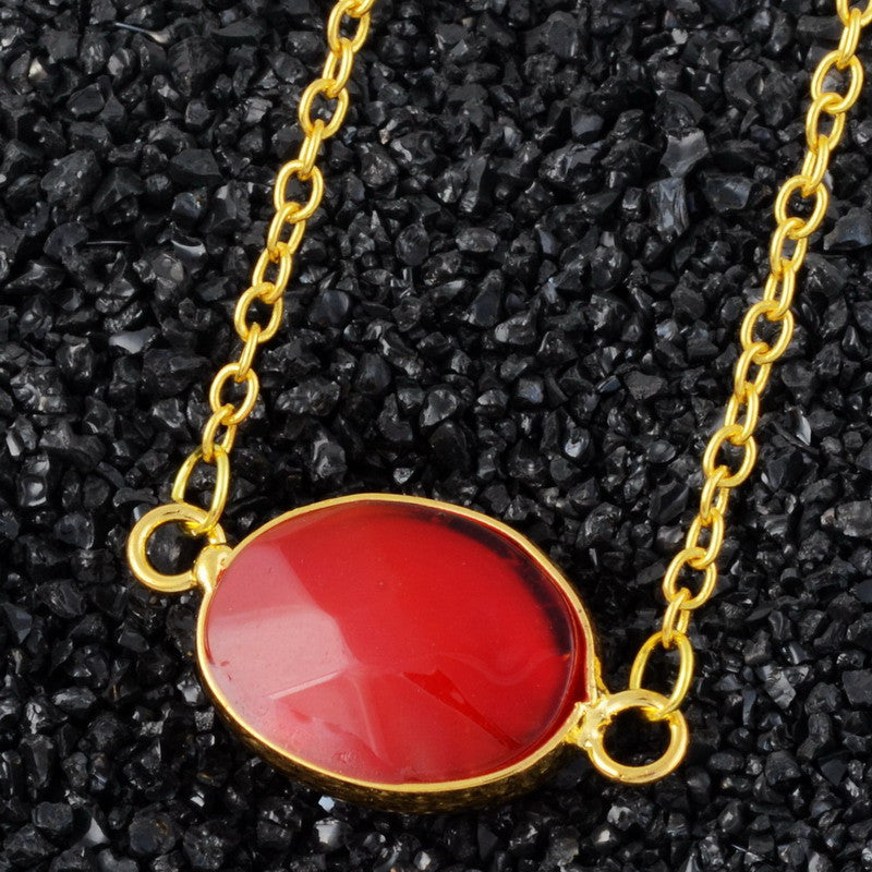 Oval Natural Stone Agate Necklace - Shevoila Jewelry & Clothing - 7