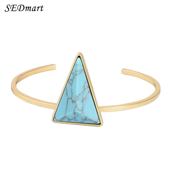 Gold Plated Triangle Bracelet - Shevoila Jewelry & Clothing - 1