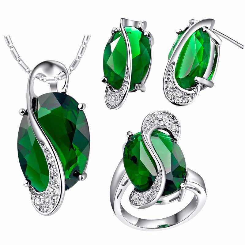 Natural Gemstone & Silver Jewelry Set - Shevoila Jewelry & Clothing - 6